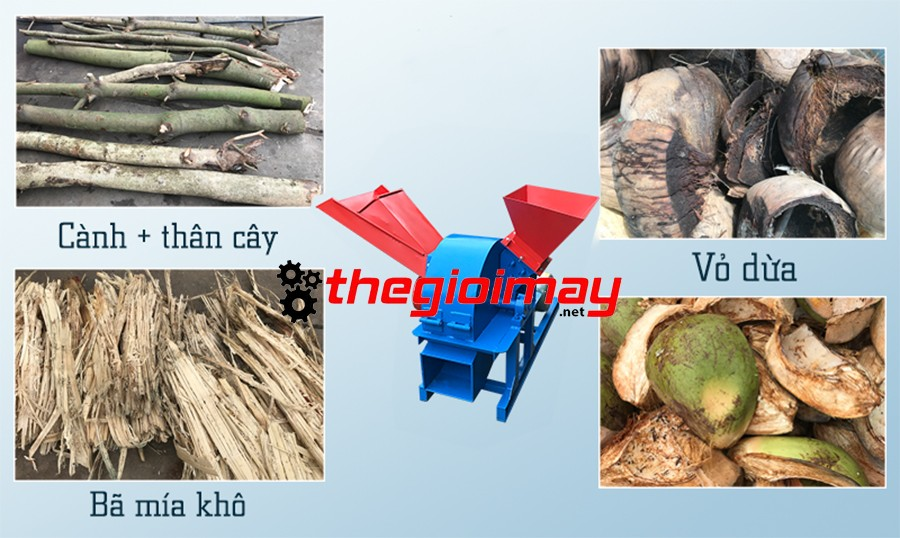 Máy băm gỗ băm được nhiều loại