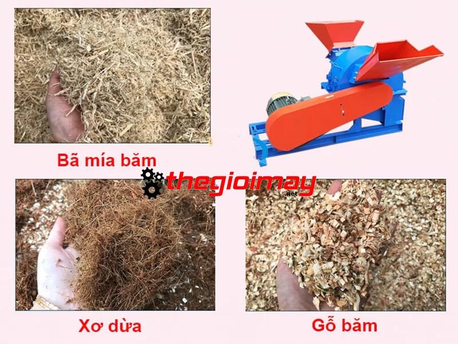Thành phẩm khi sử dụng máy băm gỗ đa năng