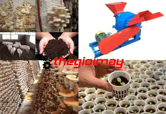 Gỗ băm, xơ dừa băm trồng nấm và rau