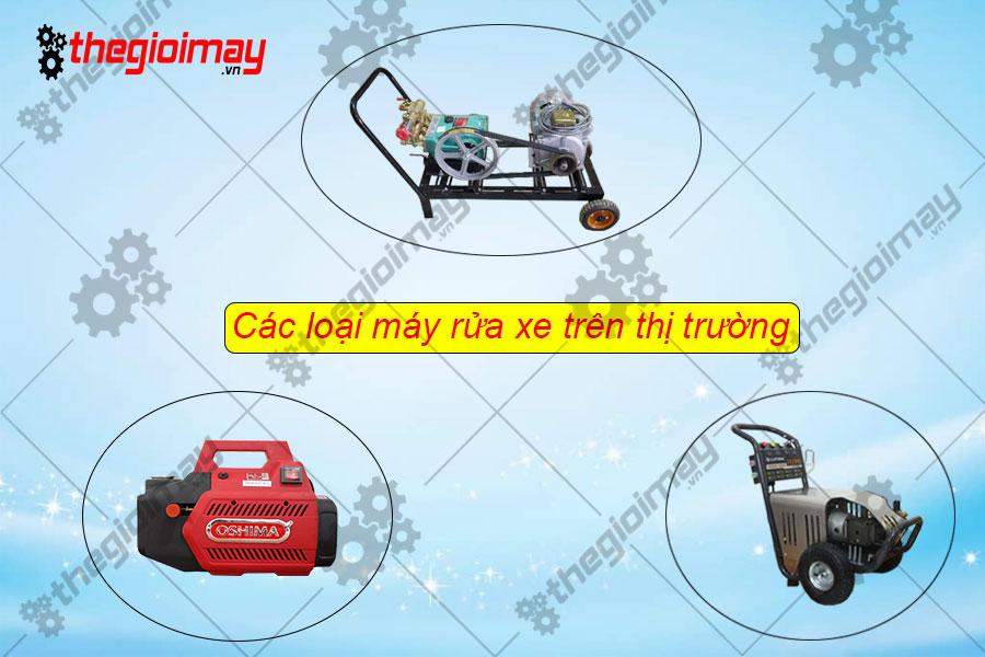 Các loại máy rửa xe trên thị trường