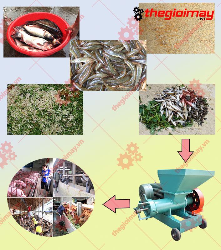 Ứng dụng của máy đùn cá công nghiệp 11KW