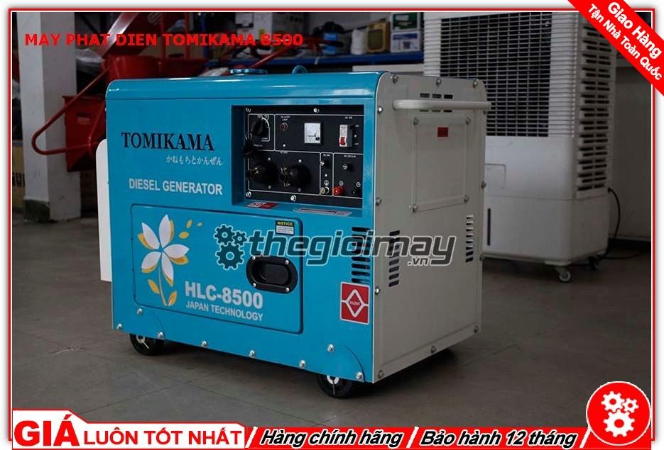 Máy phát điện Tomikama HLC-8500 sử dụng động cơ chạy dầu diesel mạnh mẽ