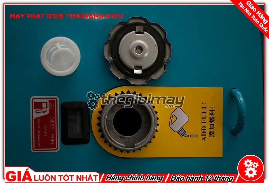 Nơi tiếp nhiên liệu của máy phát điện Tomikama HLC-8500