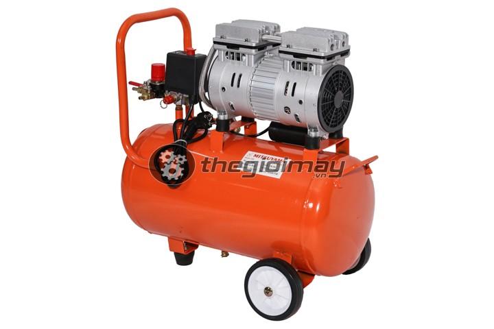 Tổng quan máy nén khí không dầu mitsuyama 24 lít màu cam
